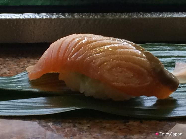Roasted Salmon at Pontocho Kappa Sushi