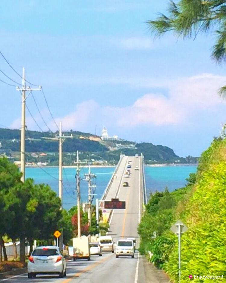 The view of Kouri Ohashi from prefectural road