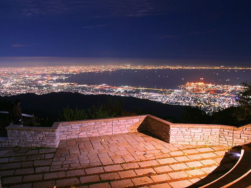 Mt. Rokko is selected as one of the Japanese Top 100 Night Views! Let's see the panoramic view from