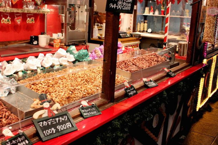 The gourmet food at the German Christmas Market
